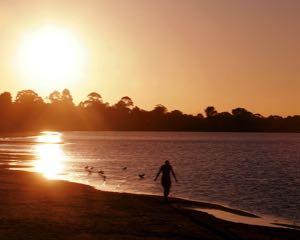 Lake Colac at sunset